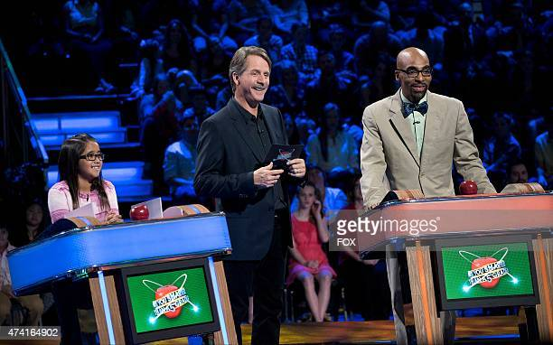 Grade schooler Angela Host Jeff Foxworthy and contestant Tolton Pace in the allnew 'Tolton' Season Premiere episode of ARE YOU SMARTER THAN A FIFTH...