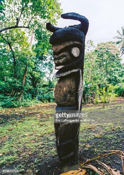 Grade statues in fern trees in the forest Malampa province Malekula island Vanuatu on September 3 2007 in Malekula Island Vanuatu