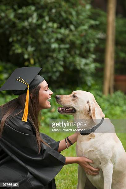 Graduate and dog