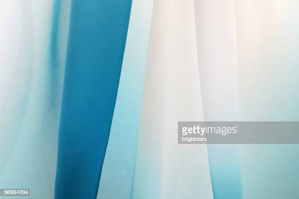 graduated silk from blue to white - tulle netting stock pictures, royalty-free photos & images