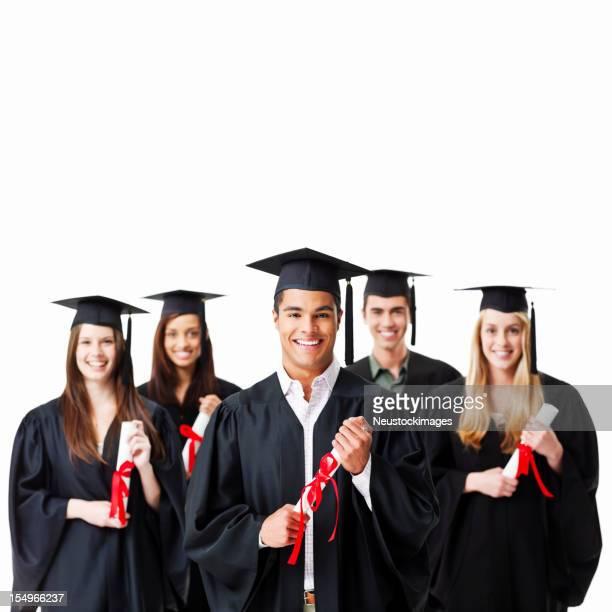 Graduates Holding Diplomas - Isolated