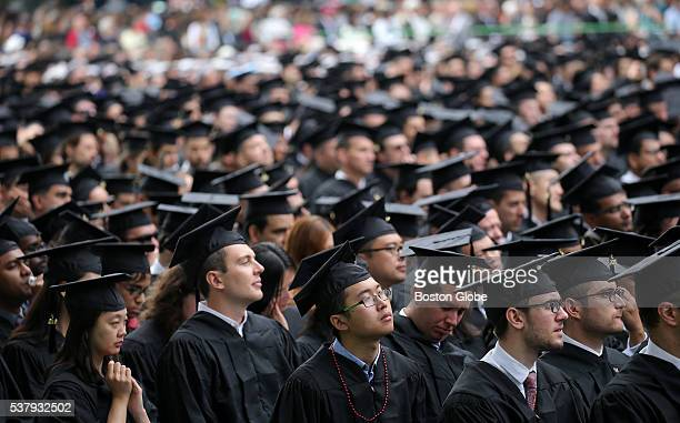 Graduates in the audience at the Massachusetts Institute of Technologys commencement in Cambridge Mass on June 3 2016