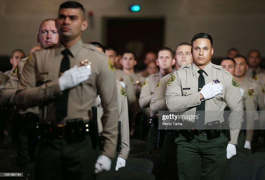 LA County Sheriff Alex Villanueva Presides Over Police Academy Graduation : News Photo