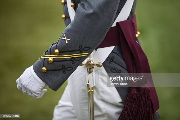 A 2013 graduating cadet arrives at the United States Military Academy at West Point during the 215 commencement ceremony May 25 2013 in West Point...