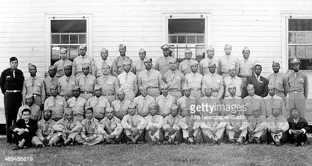 Graduating class of Tuskegee Airmen during World War II at Tuskegee Army Airfield Tuskegee Alabama 1944