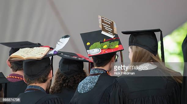 Graduating Harvard University student during Harvard commencement ceremonies at Harvard University in Cambridge MA o May 29 2014