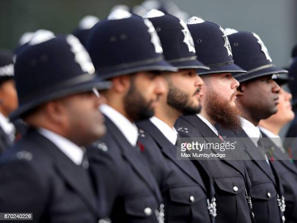Graduating Officers take part in the Metropolitan Police Service Passing Out Parade for new recruits at the Metropolitan Police Service Training...