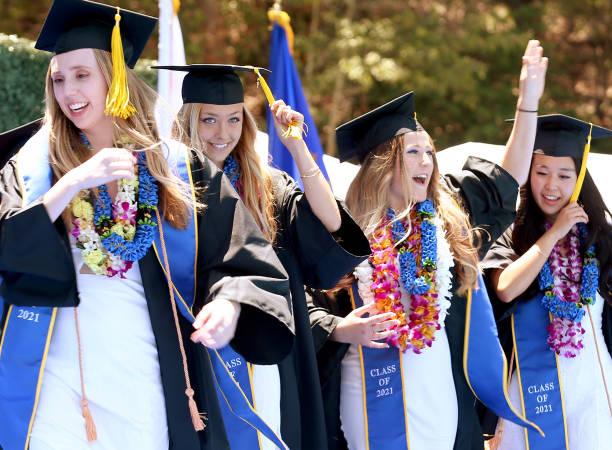 CA: UCLA Holds Socially-Distanced Graduation Ceremony At Drake Stadium