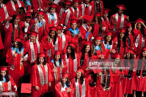Graduation ceremonies for seniors at the KIPP Academy of Houston a private school network of 82 schools nationwide that provide minorities with a...