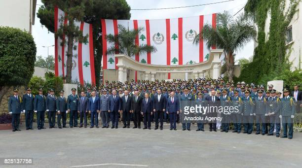 A graduation ceremony held at military academy as part of the 72nd anniversary of the Army Day at Baabda town in Beirut Lebanon on August 01 2017...