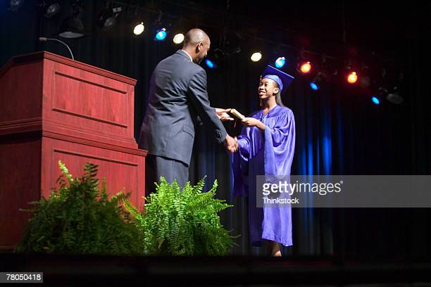 graduation ceremony - teen awards foto e immagini stock