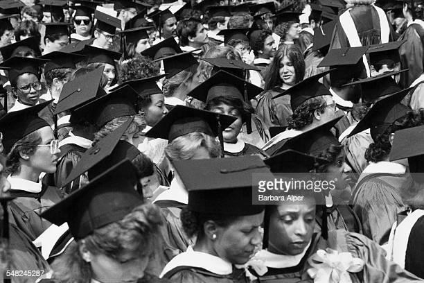 Graduation Day at New York University New York City May 1986