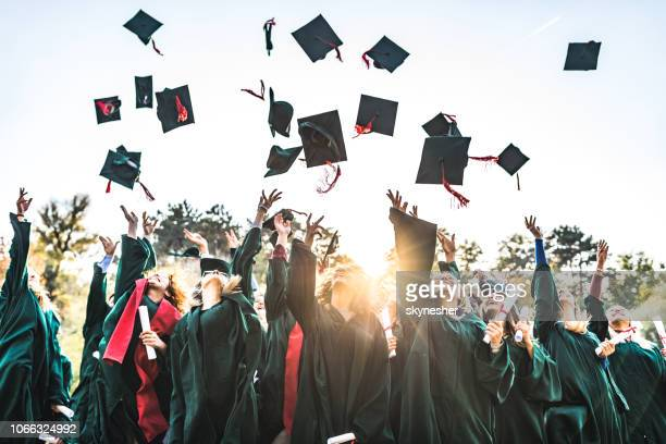 graduation day! - hat stock pictures, royalty-free photos & images