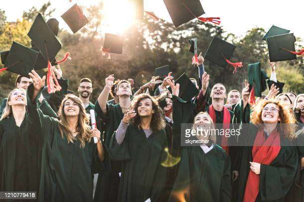 graduation day! - alumni stock pictures, royalty-free photos & images