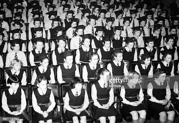 Graduation day possibly Barr's Hill Girls Grammar School at the end of the school year Circa 1959