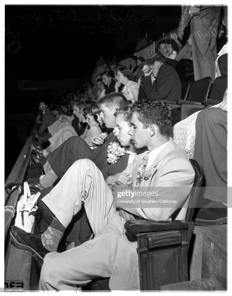 Graduation party, 1951 : News Photo