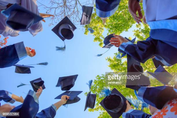 graduation - cap hat stock pictures, royalty-free photos & images