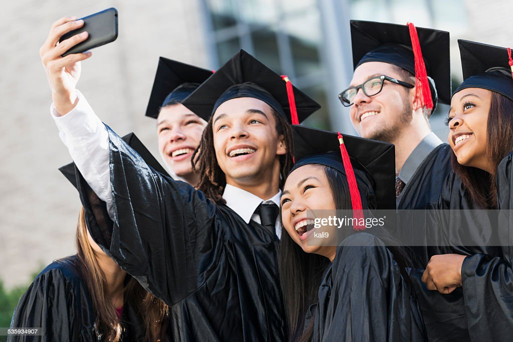 Graduation selfie : Stock Photo