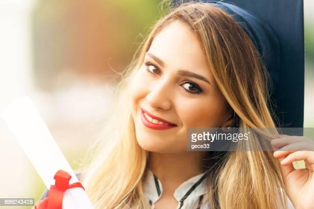 Graduation woman Smiling