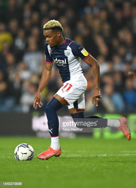 Grady Diangana of West Bromwich Albion during the Sky Bet Championship match between West Bromwich Albion and Derby County at The Hawthorns on...