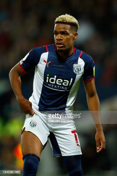 Grady Diangana of West Bromwich Albion looks on during the Sky Bet Championship match between West Bromwich Albion and Derby County at The Hawthorns...
