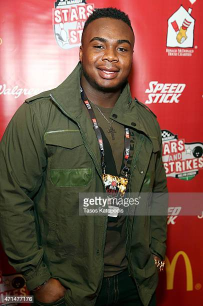 Grady Jarrett Defensive Tackle Clemson attends Stars and Strikes Celebrity Bowling Classic at Lucky Strike on April 28 2015 in Chicago Illinois