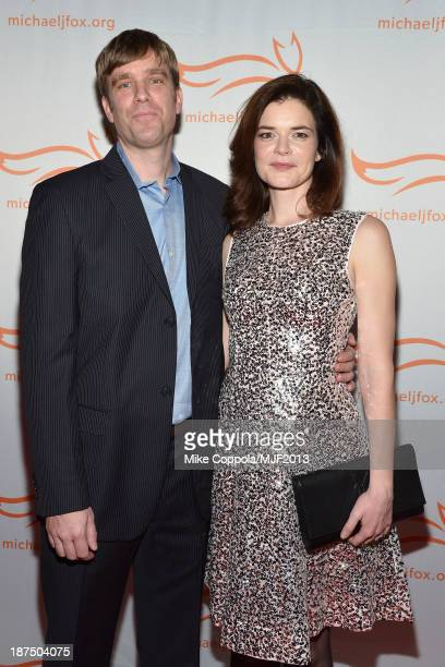 Grady Olsen and Betsy Brandt attend the 2013 A Funny Thing Happened On The Way To Cure Parkinson's event benefiting The Michael J Fox Foundation for...
