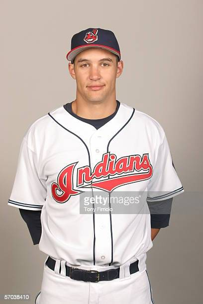 Grady Sizemore of the Cleveland Indians during photo day at Chain of Lakes Park on February 28 2006 in Winter Haven Florida