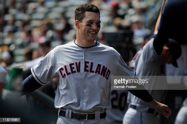 Grady Sizemore of the Cleveland Indians prior to their game against the Minnesota Twins on April 24 2011 at Target Field in Minneapolis Minnesota The...