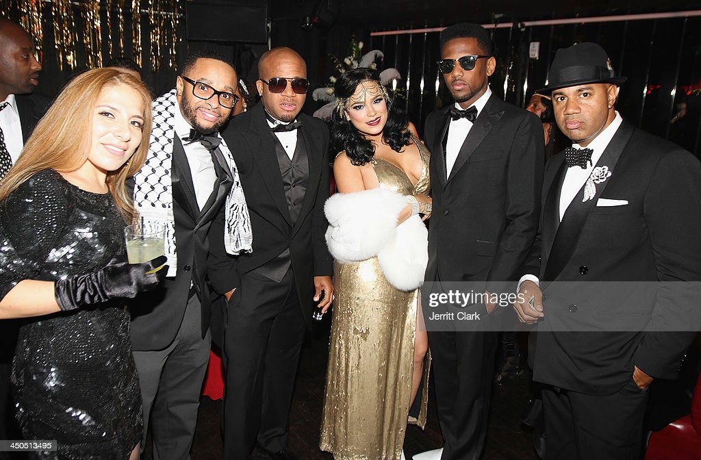 Grady Spivey, Red Cafe, Emily B., Fabolous and Lenny S. attend Fabolous' The Great Fabsby Birthday Celebration at Jazz Room at the General on November 18, 2013 in New York City.