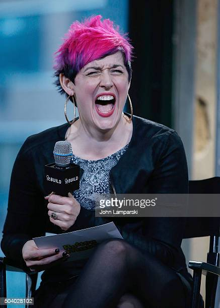 Grae Drake discusses The Golden Tomato Awards during AOL Build speaker series at AOL Studios In New York on January 8, 2016 in New York City.