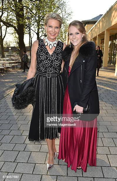 Graefin Stephanie von Pfuel and her daughter Amelie von Pfuel during the 'EAGLES Fashion Dinner' at Nockherberg on April 6 2016 in Munich Germany