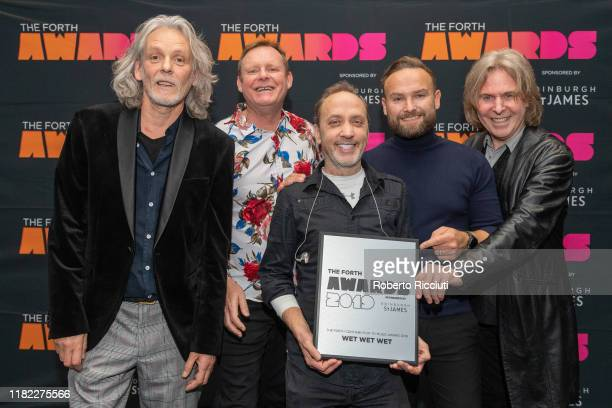Graeme Clark Tommy Cunningham Neil Mitchell Kevin Simm and Graeme Duffin of Wet Wet Wet attend The Forth Awards 2019 at Usher Hall on November 14...