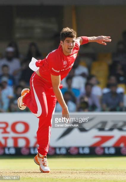 Graeme Cremer of Zimbabwe bowls during 2011 ICC World Cup Group A match between Australia and Zimbabwe at the Sardar Patel Stadium on February 21...