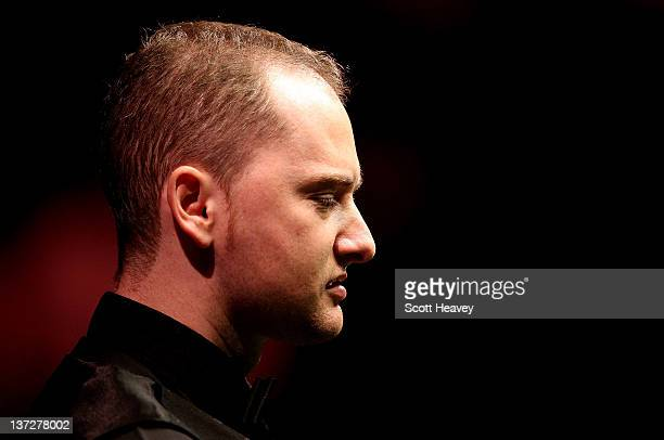Graeme Dott during his match with Allister Cater during day four of The Masters at Alexandra Palace on January 18 2012 in London England