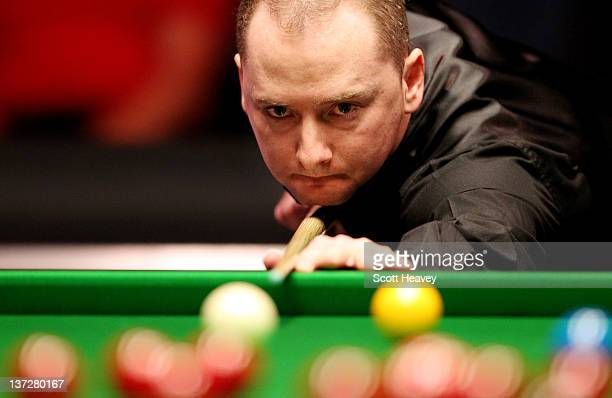 Graeme Dott in action during his match with Allister Carter during day four of The Masters at Alexandra Palace on January 18 2012 in London England