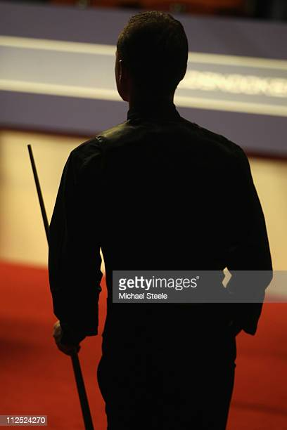 Graeme Dott of Scotland in the round one game against Mark King of England during day four of the Betfredcom World Snooker Championship at The...