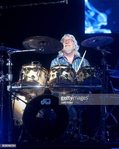 Graeme Edge of the Moody Blues performs in concert at HEB Center at Cedar Park on January 21 2018 in Cedar Park Texas