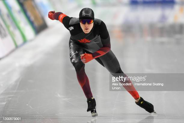 Graeme Fish of Canada competes in the men's 5000 meter during the ISU World Single Distances Speed Skating Championships on February 13 2020 in Salt...