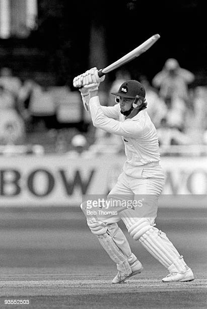 Graeme Fowler batting for England against Sri Lanka during the Prudential Cricket World Cup match held at Headlingley Leeds England on 20th June 1983...