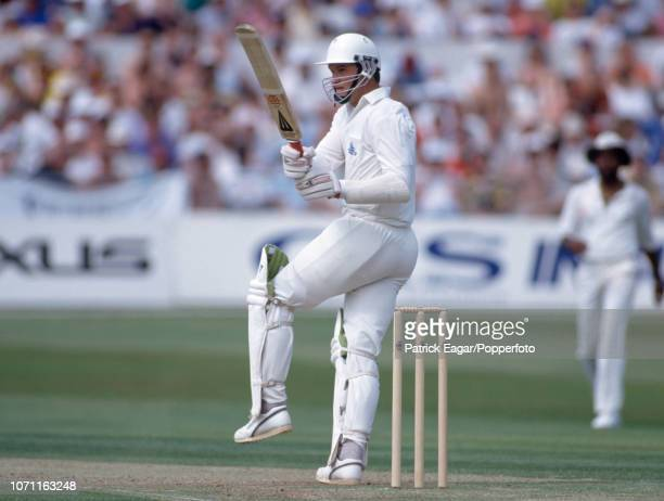 Graeme Hick batting for England during the 3rd Test Match between England and West Indies at Trent Bridge Nottingham 4th July 1991 West Indies won by...