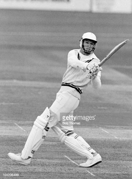 Graeme Hick batting for Worcestershire against the West Indies at New Road Worcester on 28th May 1988 The match was drawn