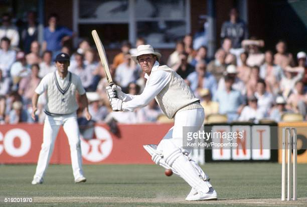 Graeme Hick batting for Worcestershire at New Road in Worcester circa June 1986