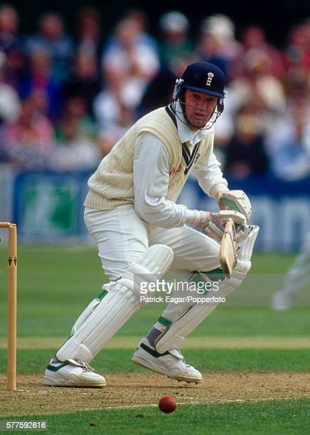 Graeme Hick batting for Worcestershire during his innings of 109 runs in the Benson Hedges Cup Semi Final between Worcestershire and Lancashire at...