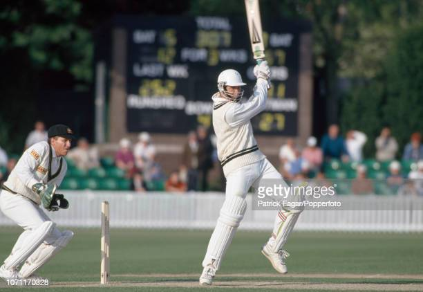 Graeme Hick batting for Worcestershire during his innings of 187 in the tour match against Australia at New Road Worcester 5th May 1993 The...