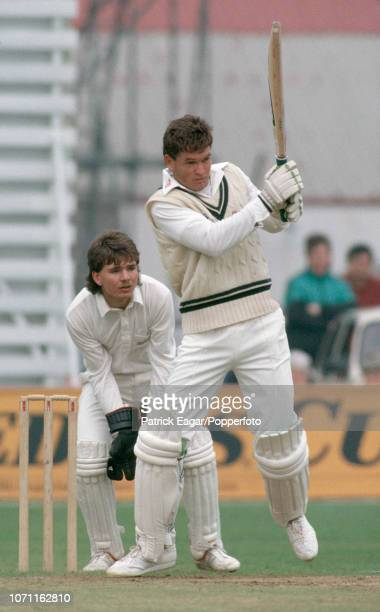 Graeme Hick batting for Worcestershire during the Benson and Hedges Cup group match between Northamptonshire and Worcestershire at Northampton 12th...