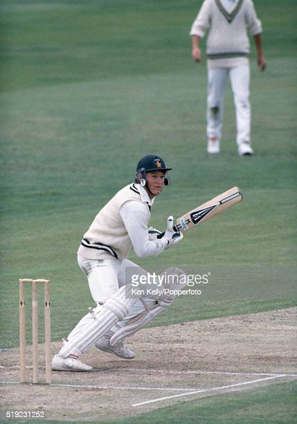 Graeme Hick batting for Zimbabwe during their prePrudential World Cup warmup fixture against Warwickshire at Edgbaston in Birmingham circa May 1983