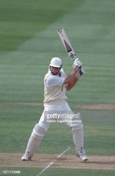 Graeme Hick of England batting during his innings of 64 runs in the 2nd Ashes Test match between England and Australia at Lord's Cricket Ground...
