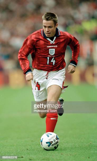 Graeme Le Saux of England in action during a UEFA European Championship Qualifier between England and Bulgaria at Wembley Stadium on October 10 1998...