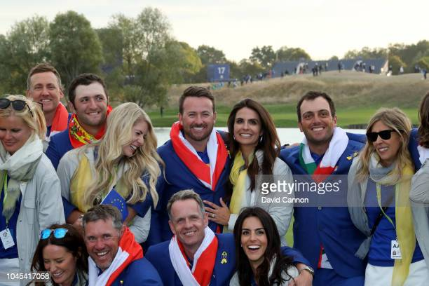 Graeme McDowell his wife Kristin Stape Francesaco Molinari with his wife Valentina Molinari Luke Donald with his wife Diane Antonopoulos and Lee...